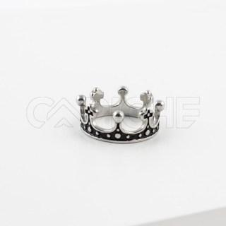 Anel de aço masculino Coroa