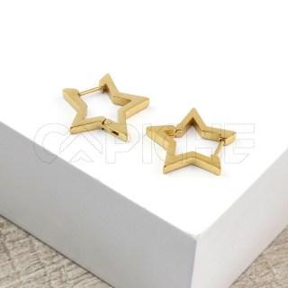 Argola Estrela Dourada