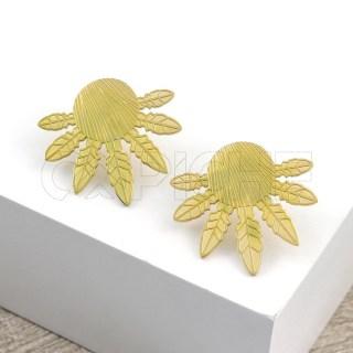 Brincos em aço SWE Dourado