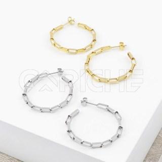 Argolas em aço Chain