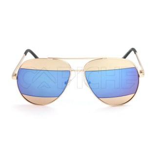 Óculos de Sol Aviator Split BlueGold