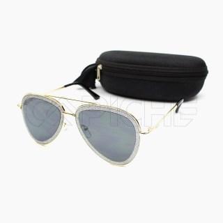 Óculos de sol Sparkly Gold aviator