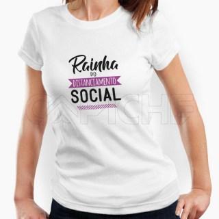 Tshirt Senhora Rainha do Distanciamento Social