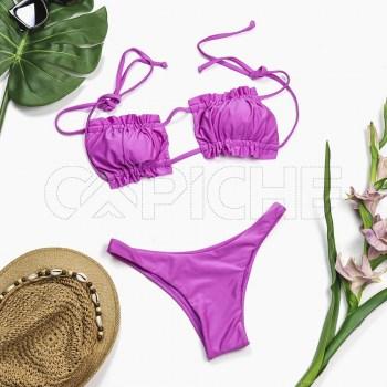 Conjunto bikini Cortina Lilas