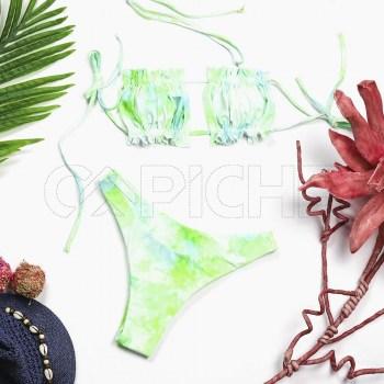 Conjunto bikini Tie Dye Verde