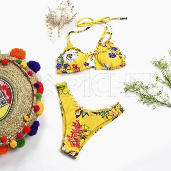 Conjunto bikini Franzi Amarelo