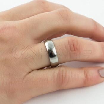 Aliança em aço Classic Prateada 6mm