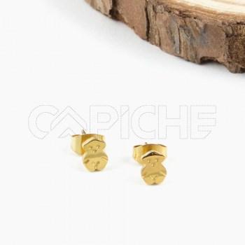 Brincos em aço Ursinho