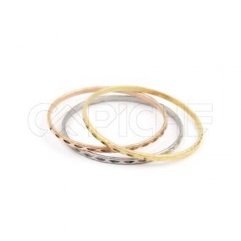 Trio de pulseiras Aço Goji
