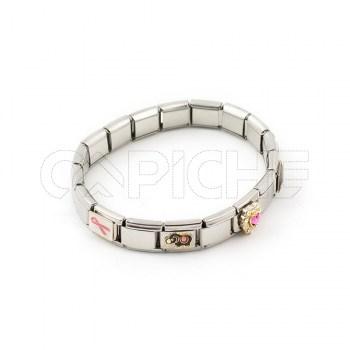 Bracelete em aço Simbol III