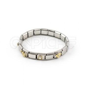 Bracelete em aço Simbol IV