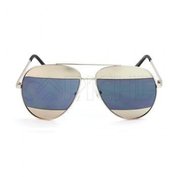 Óculos de Sol Aviator Split BlackSilver