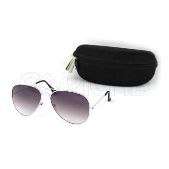 Óculos de sol aviator Cinza