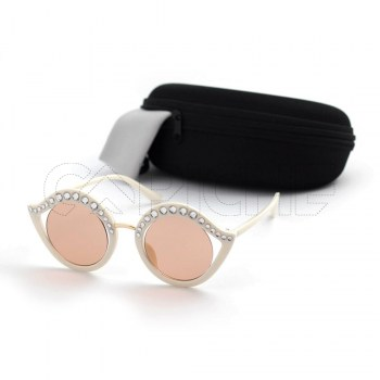 Óculos de sol CristalG Creme