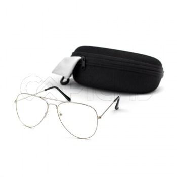 Óculos estéticos Aviator Clear Dourado