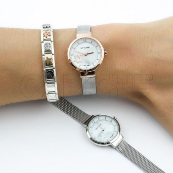 Relógio Aço Borboleta