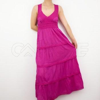 Vestido Sino Rosa