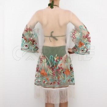 Kimono Franja Cru