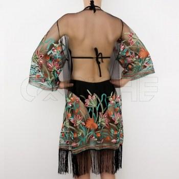 Kimono Franja Preto