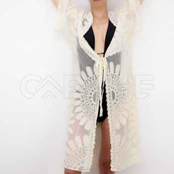 Kimono Flori Branco