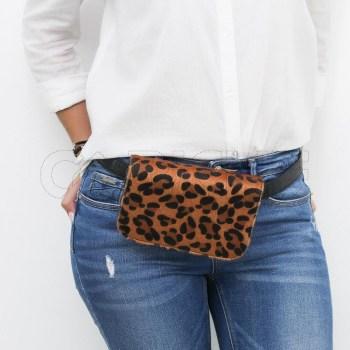 Bolsa de cintura ou mala Tiger