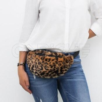 Bolsa de cintura em Pelo