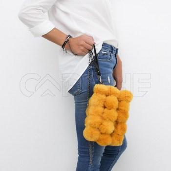 Mala Pompom Amarela
