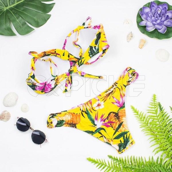Bikini Tropical Amarelo