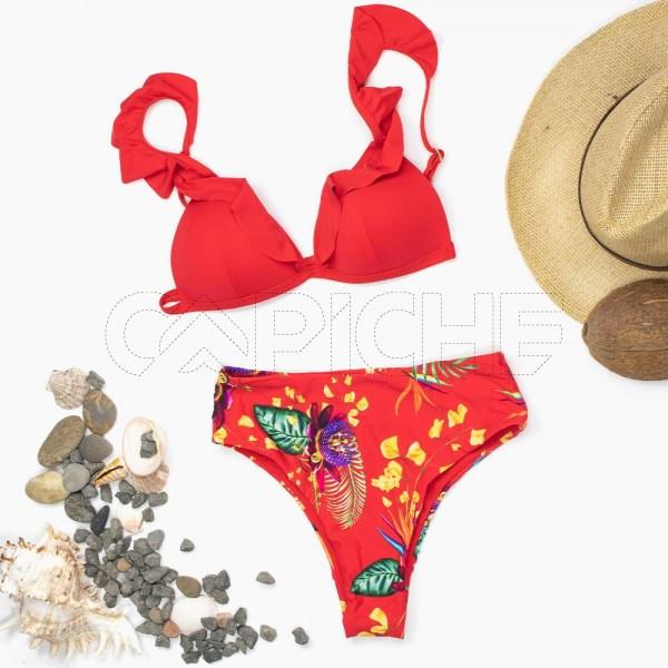 Conjunto bikini Salvador Vermelho
