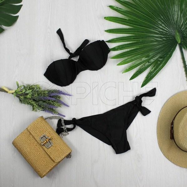 Bikini Buton Preto