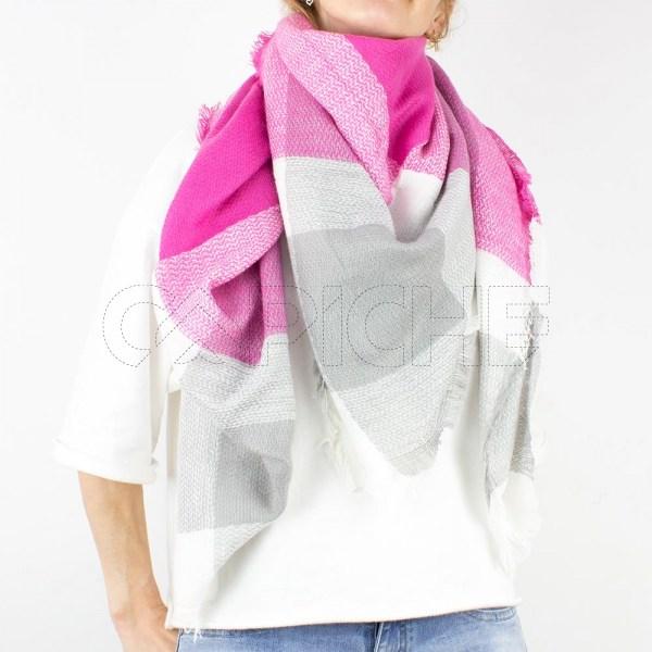 Écharpe Squares Rosa