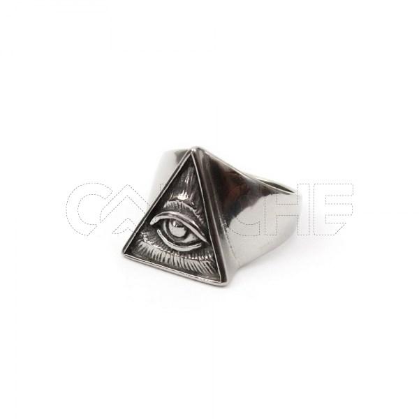 Anel de aço masculino Horus