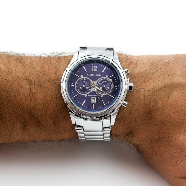 Relógio em aço Ducato Azul