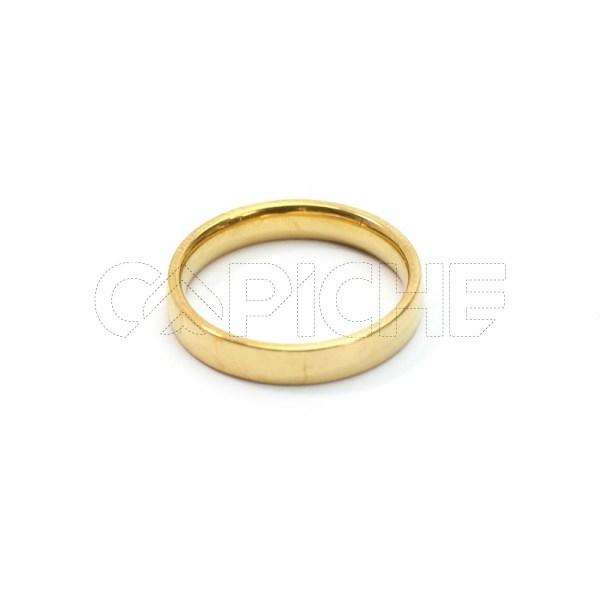 Aliança aço dourada tradicional