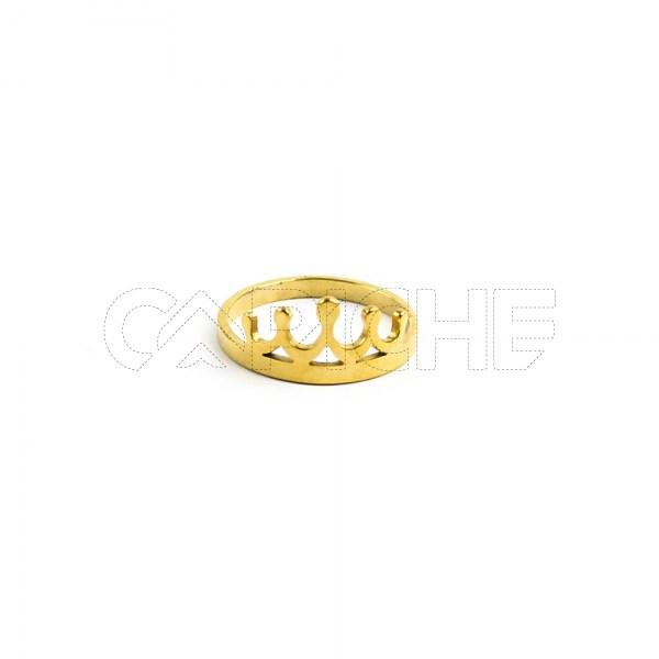 Anel em aço Coroa