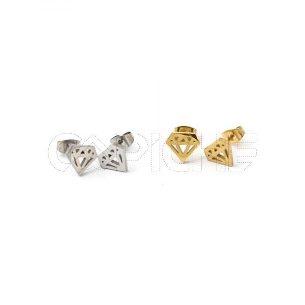 Brincos em aço Diamante