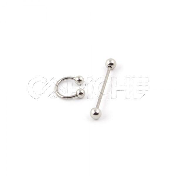 Barra ou Circular Barbell piercing