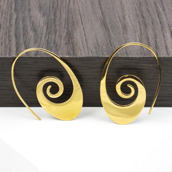 Argola Aspiral  dourada