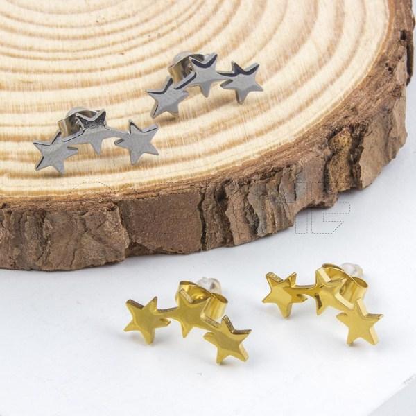 Brincos em aço Estrelas