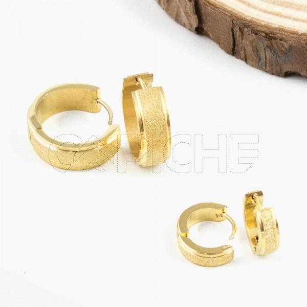Argolas em aço Brilliant Gold