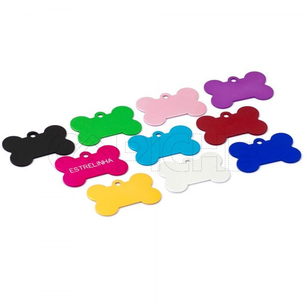 Chapa colorida de indetificação