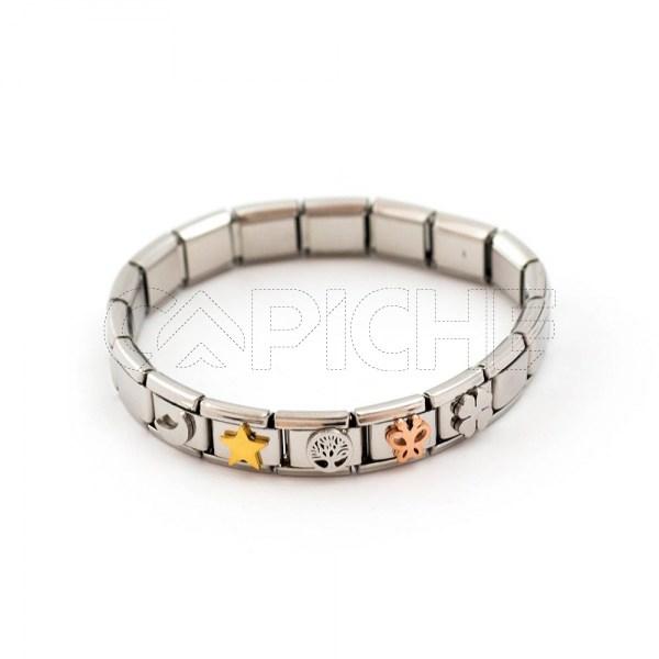 Bracelete em aço Simbol I