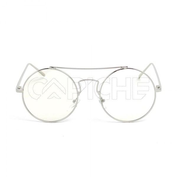Óculos de sol Round2 Clear Silver