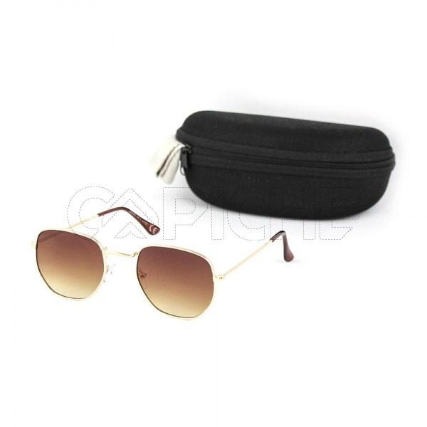 Óculos de sol Exagon castanho