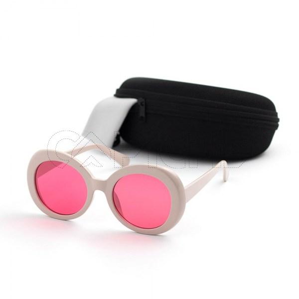 Óculos de sol GGRound Creme