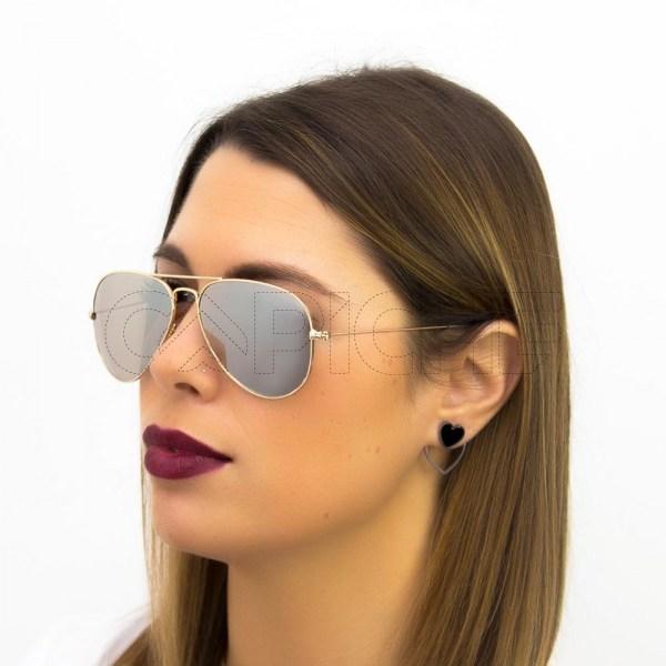 Óculos Aviator Silver
