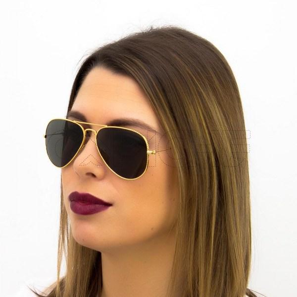 Óculos de sol Aviator classic Green S
