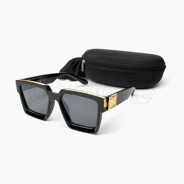 Óculos de sol retro Dourado