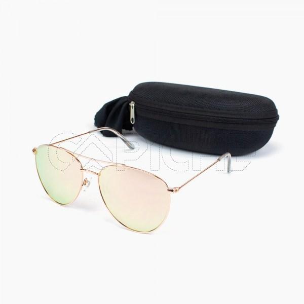 Óculos de sol Aviator Panamá Rosa Espelhado