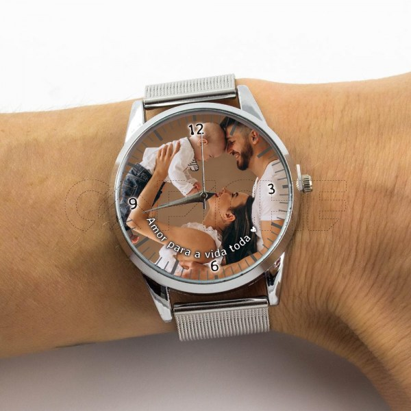 Relógio com Foto Personalizado